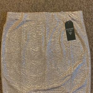 Gold shimmer mini skirt by Guess
